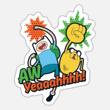 Adventure Time Finn And Jake Aw Yeah - Sticker