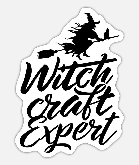 Magic Potion Stickers - Witchcraft expert wizard sorcery witches witch - Sticker white mat