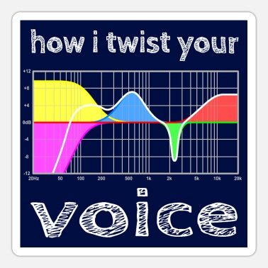 Parametric how i twist your voice - hgr1 - Sticker