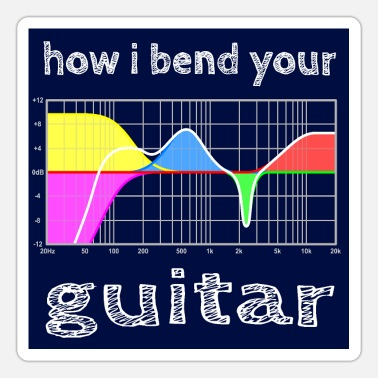 Parametric how i bend your guitar - hgr1 - Sticker