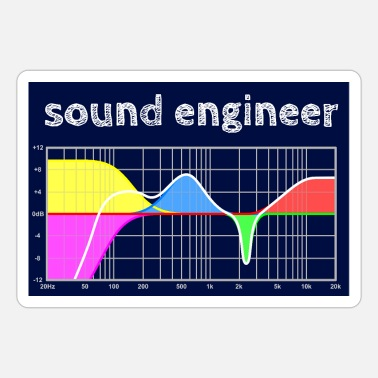 Parametric sound engineer - Parametric Equalizer - hgr1 - Sticker
