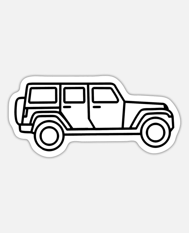 Vehicle Stickers - Jeep - Sticker white matte