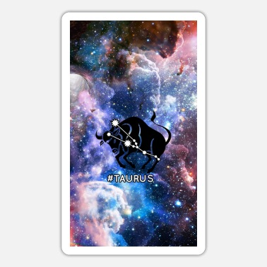 Atrology Stier Horoskop-Tierkreis-Raum-Galaxie - Sticker