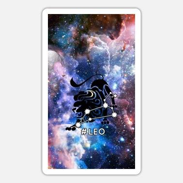 Atrology Leo Horoskop-Tierkreis-Raum-Galaxie - Sticker