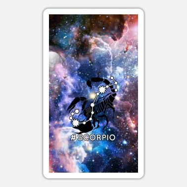 Atrology Skorpion Horoskop-Tierkreis-Raum-Galaxie - Sticker