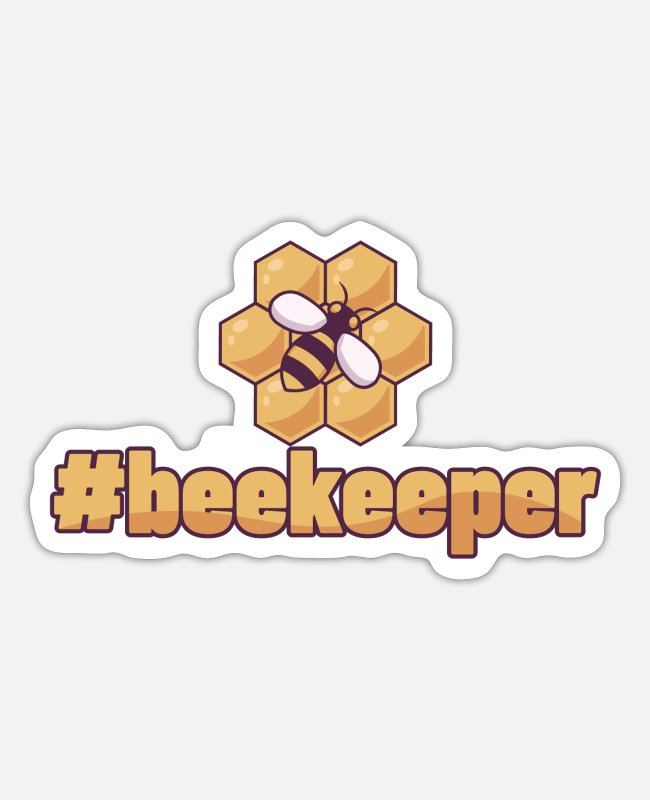 Bumble Bee Stickers - #Beekeeper design for clubs and breeding - Sticker white mat