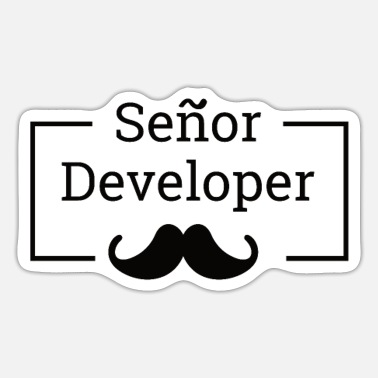 Senior Senor Developer, Senior Developer |Programmierer - Sticker