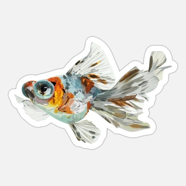 Sjo Telescope fish - Sticker
