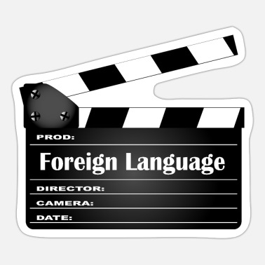 Foreign Language Foreign Language Movie Clapperboard - Sticker