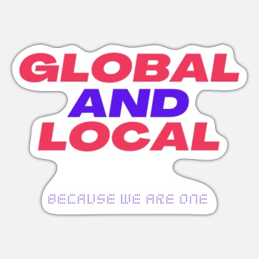 Global globaal lokaal 02 - Sticker
