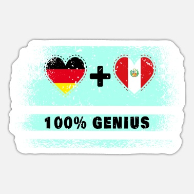Cusco Germany and Peru 100% brilliant / gift - Sticker