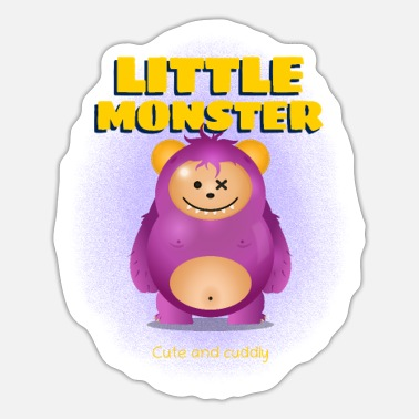 Nuttet Lille monster nuttet og nuttet sødt lille monster - Sticker