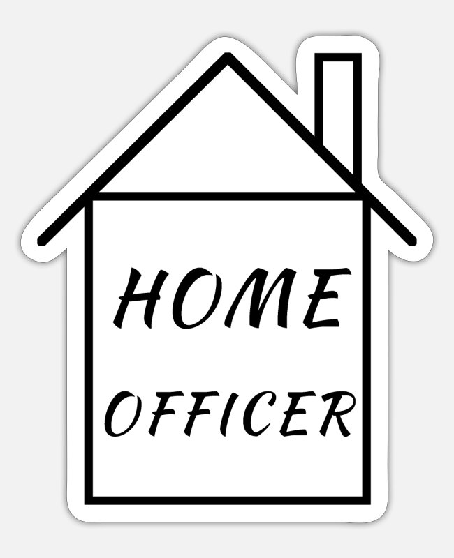 Office Stickers - home officer - Sticker white mat