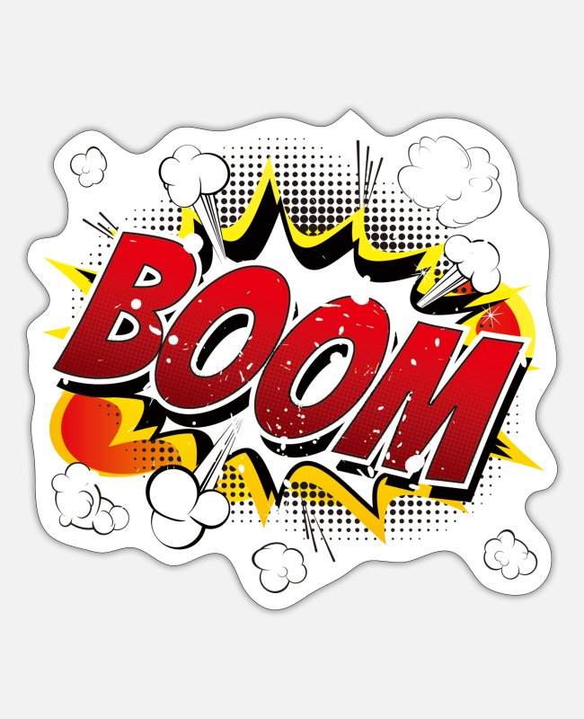 Animal Stickers - BOOM !!! - Sticker white mat