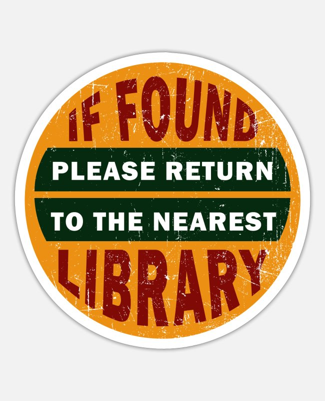 Read Stickers - Funny saying for libraries - library - Sticker white mat