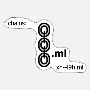 Chain Chains, chains, chain blockchains - Sticker