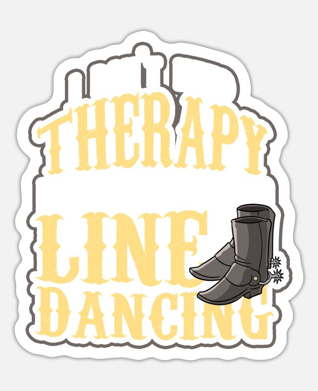 Western Stickers - Line dance - Sticker white mat