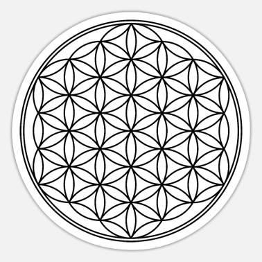 Protection Symbol Flower of life, protection symbol - Sticker