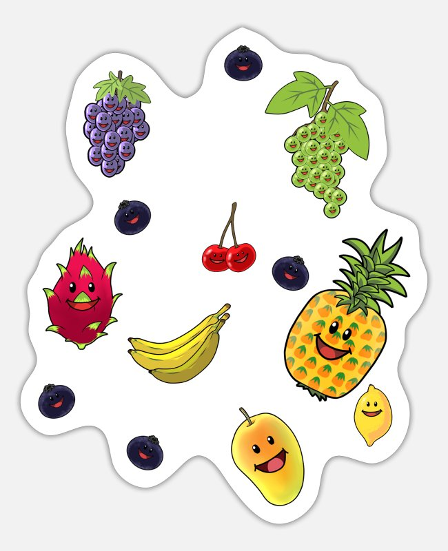 Bless You Stickers - Fruit Fruits Vegan Healthy Vitamins Summer - Sticker white matte
