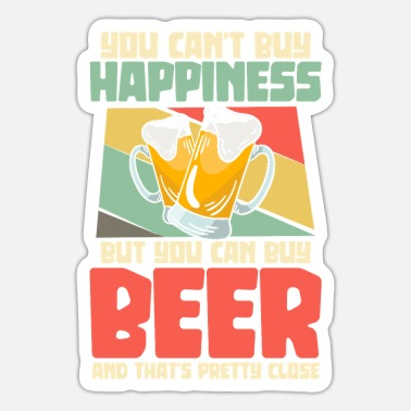Beer Tent Beer beer mug beer tent beer drinker party - Sticker