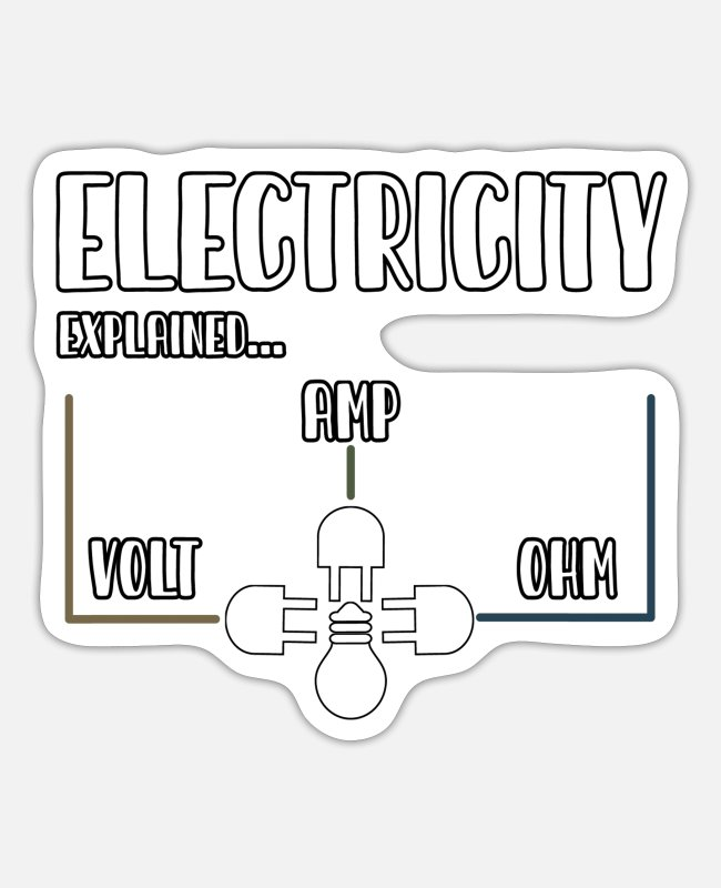 Electro-mechanical Engineers Stickers - Electrician, electrician worker, technician - Sticker white matte