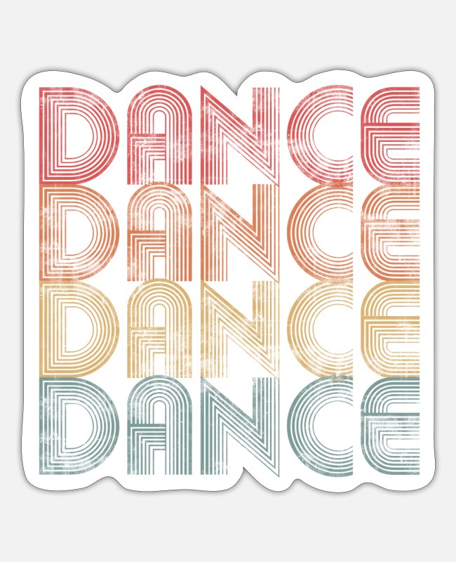 Dance Stickers - Dance dancing dancers vintage - Sticker white mat