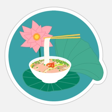 Tradition Traditional Vietnamese Pho - Sticker
