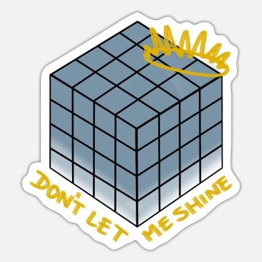 Don't Let Me Shine (blue) - Shadow - Sticker
