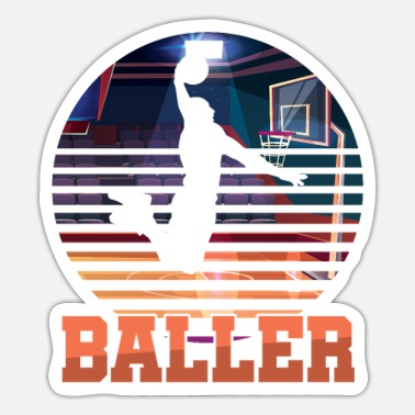 Tændstik Basketball Coach MVP Dribbling Ring Court - Sticker