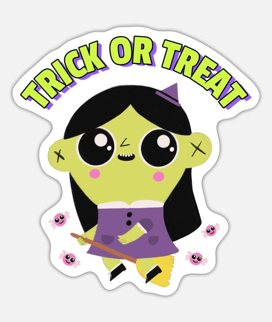 Otherwise There Are Sweets Stickers - Trick or treat witch witchcraft candy - Sticker white mat