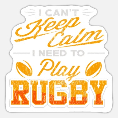 Two rotating rugby balls - rugby - Sticker