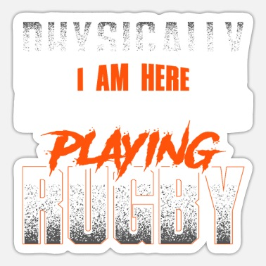 Crazy rugby saying - rugby - Sticker