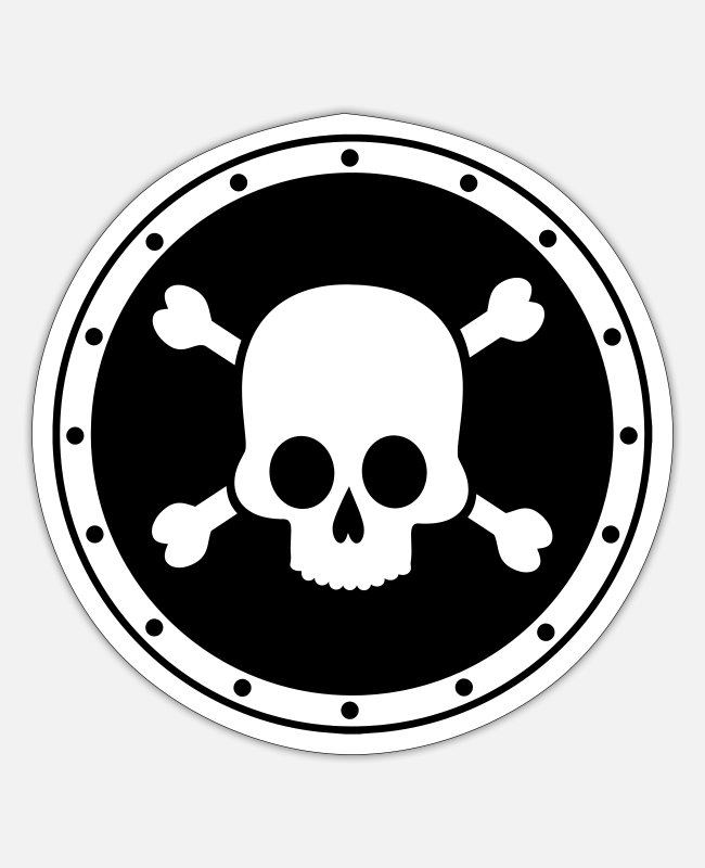 Hack Stickers - Pirate - Skull - Sticker white matte