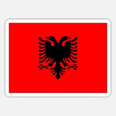 sticker flag of Albania Shqiperia gift idea - Sticker