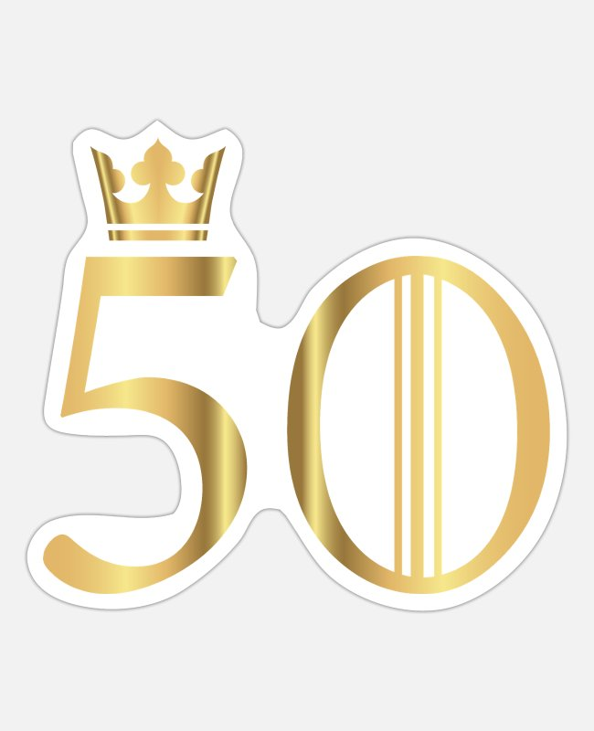 Crown Stickers - 50 years - Sticker white mat