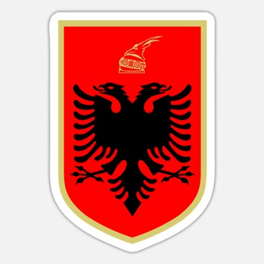 sticker coat of arms Albania gift idea Shqiperia - Sticker