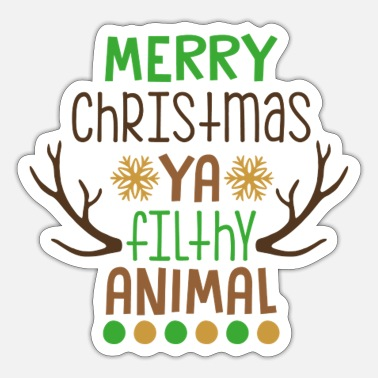 Animal Merry Christmas ya flighty animal - Sticker