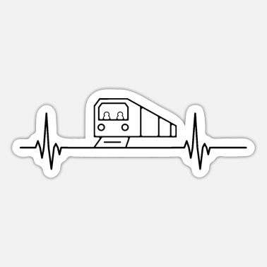 Sayings Subway heartbeat pulse metro train lover - Sticker