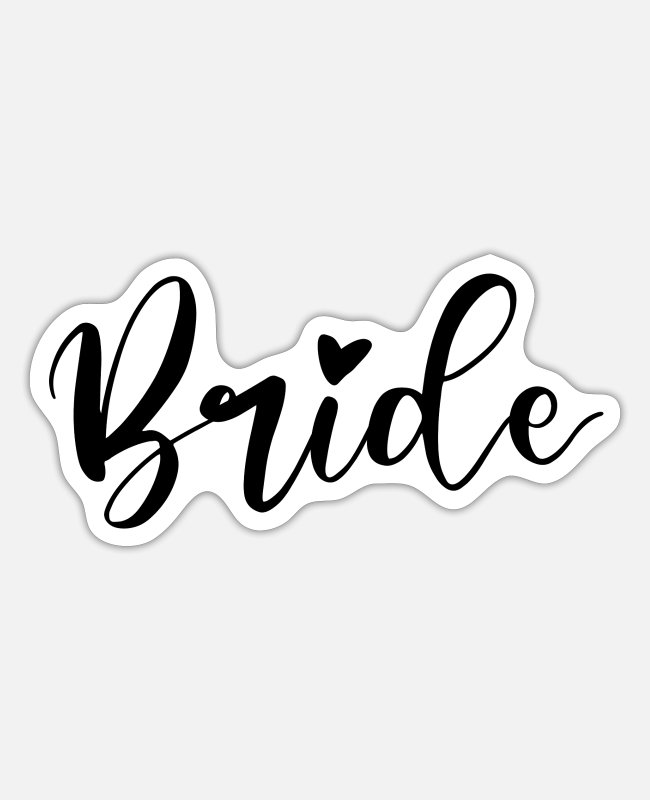 Maid Of Honor Stickers - Bride for stag hen party - Sticker white mat