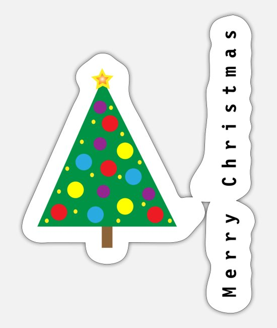 Spruce Stickers - christmas tree, christmas , merry christmas - Sticker white mat