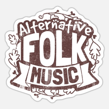 Folk Folk Country Musik - Sticker