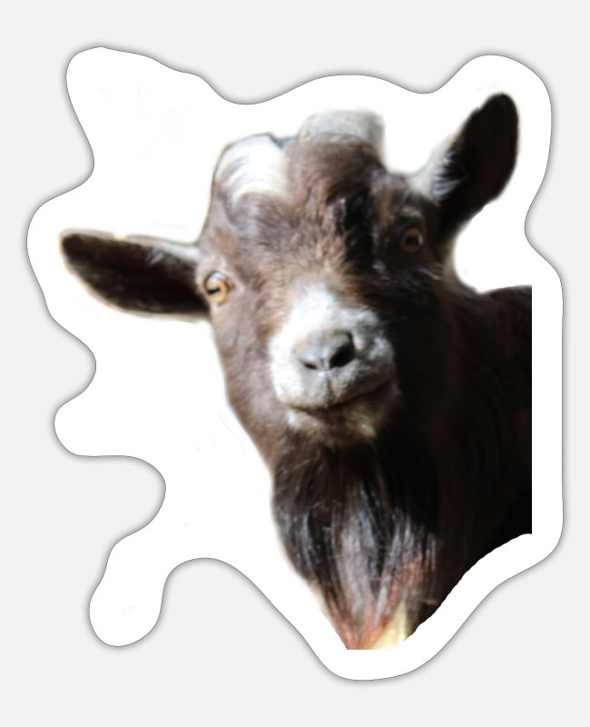 Muffie Stickers - Muffie the billy goat - Sticker white mat