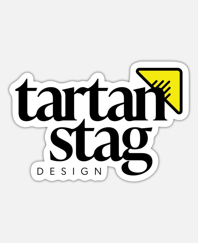 Stag Stickers - Tartan Stag - Sticker white mat