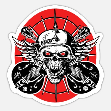 Psychobilly Rockabilly Guitar Rock and roll Music Rockers - Sticker