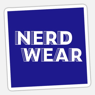 Wear Nerd Wear - Sticker