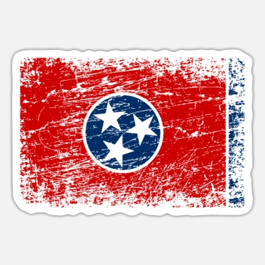 Chattanooga Tennessee ensign flag used look - Sticker