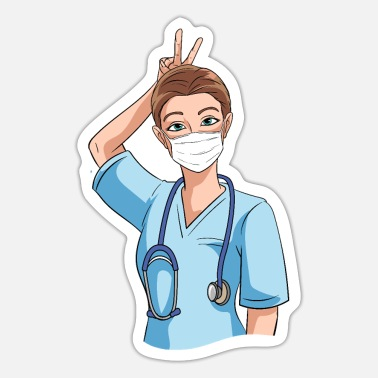 Nurse Humor Funny nurse with humor - Sticker