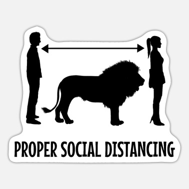 Social distancing Leo - Sticker