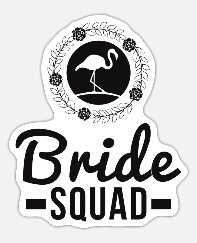 Cute Stickers - Stag Party Bride Flamingo Wedding Bachelorette - Sticker white mat