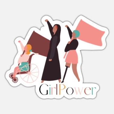 Frauentag GirlPower - Sticker